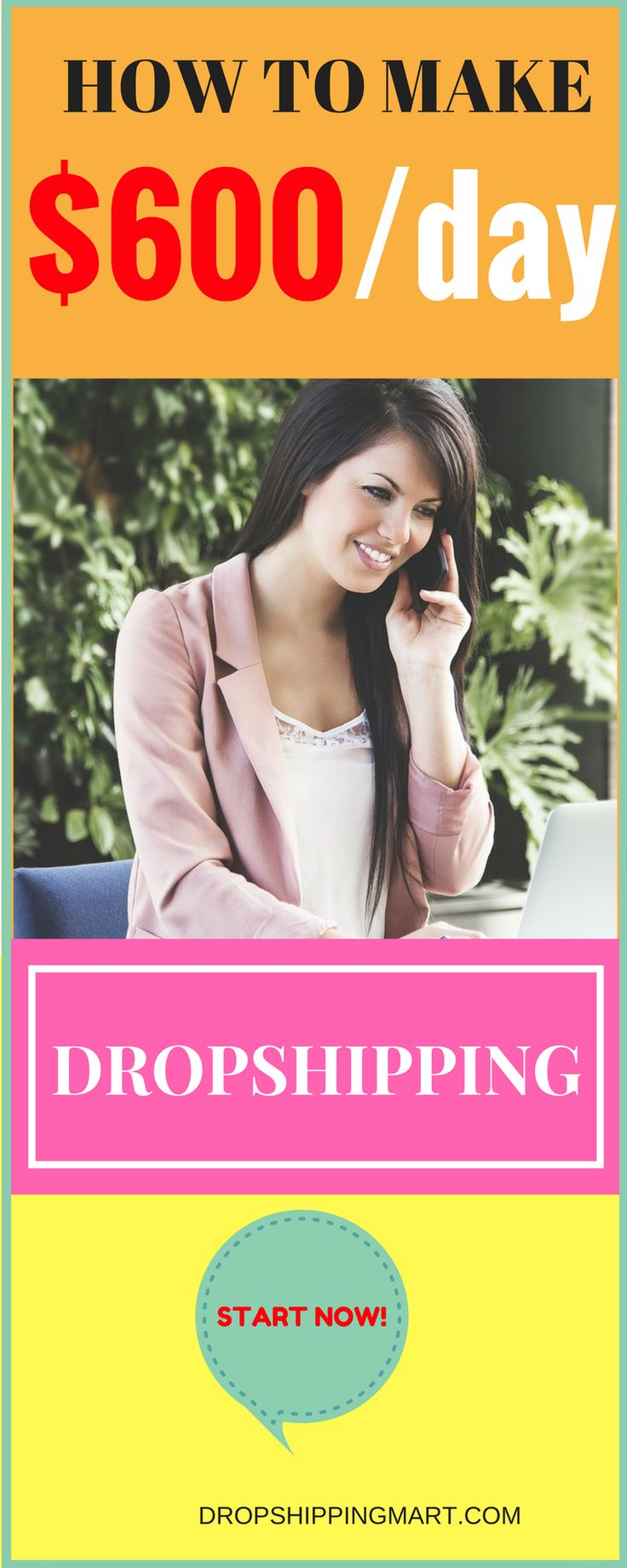 Start making money from home with #dropshipping This means that the opportunity to get your piece of the pie is real.  You may think that you have to compete with the big sites like Amazon and Walmart for it. #makemoney #makemoneyfromhome