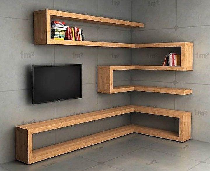 wood corner shelf ideas 2