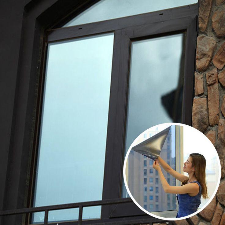 One Way Solar Reflective Mirror Privacy Window Film Glass Sticker 50Cm X 1/2/3M
