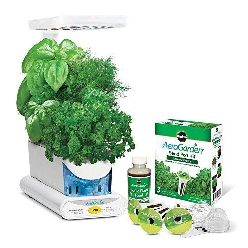 Miracle-Gro AeroGarden Sprout Plus LED with Gourmet Herb Seed Pod Kit White