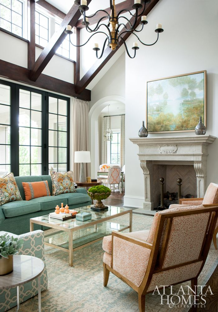 Spacious Living Room By Huff Dewberry