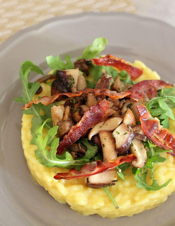 Deze risotto alla Milanese kun je serveren als feestelijk voorgerecht. Of maak een grotere portie als hoofdgerecht. Bekijk hier het recept // Francesca Kookt
