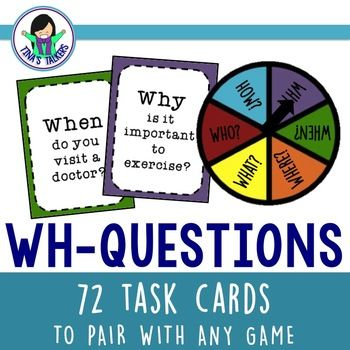 WH-Questions Task/Activity Cards – Cara Llynette