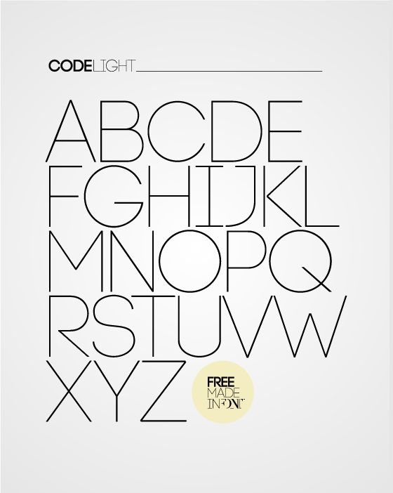Code free font is applicable for any type of graphic design – web, print, motion graphics etc and perfect for t-shirts and other items like posters, logos.