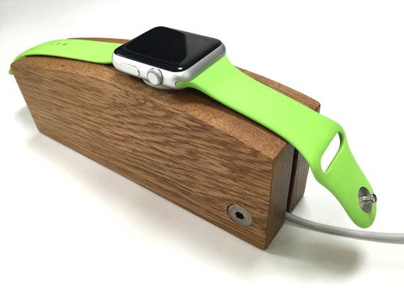 Apple Watch charging stand  oak  hand made by stuffimadeuk on Etsy