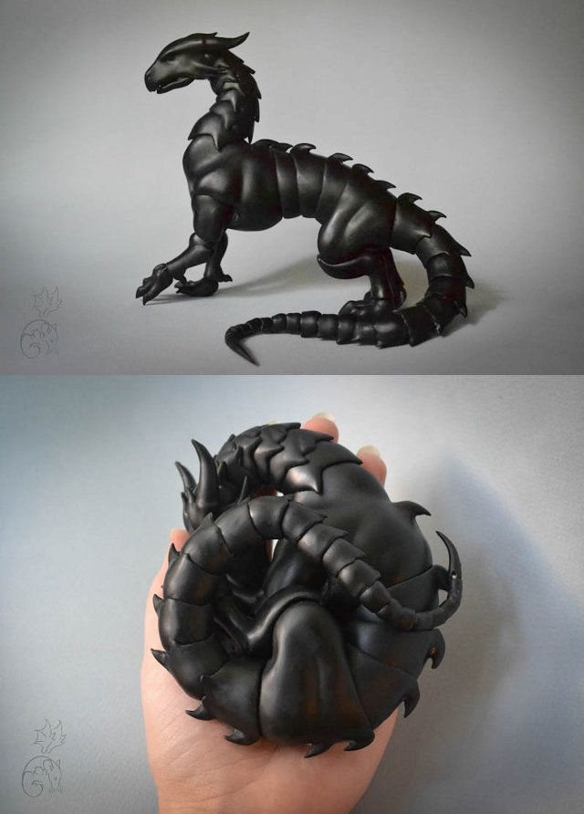 These are the ball-jointed dragons made by CuartosDolls in Russia (at least I think it's Russia). They can be posed in almost any position thanks to every body segment having its own ball joint. - Must have!