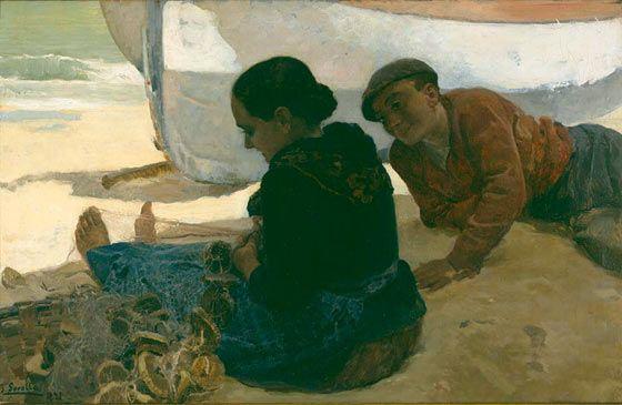 EL PILLO DE PLAYA by Joaquin Sorolla. On exhibit at the Sorolla museum in Madrid.
