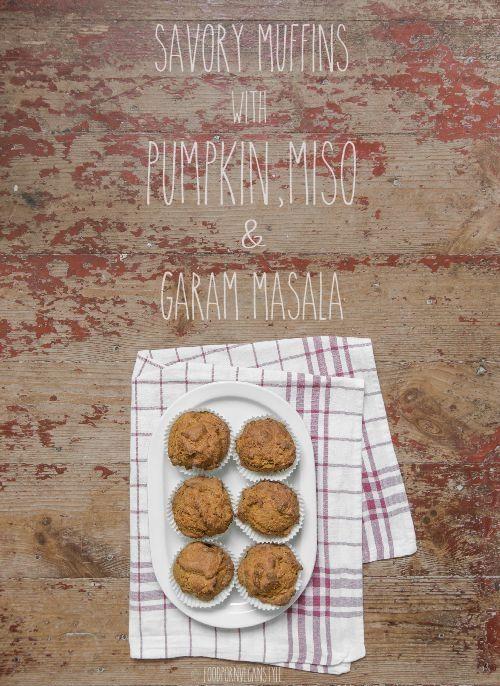 Savory muffin with pumpkin, miso & garam masala
