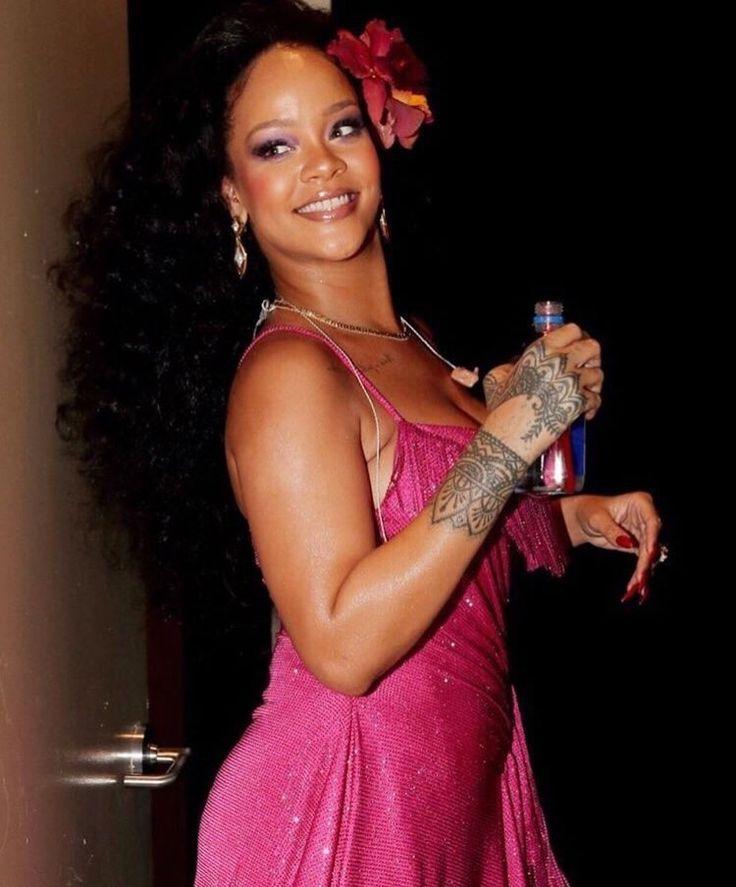January 28: Rihanna backstage at the 60th Annual Grammy Awards