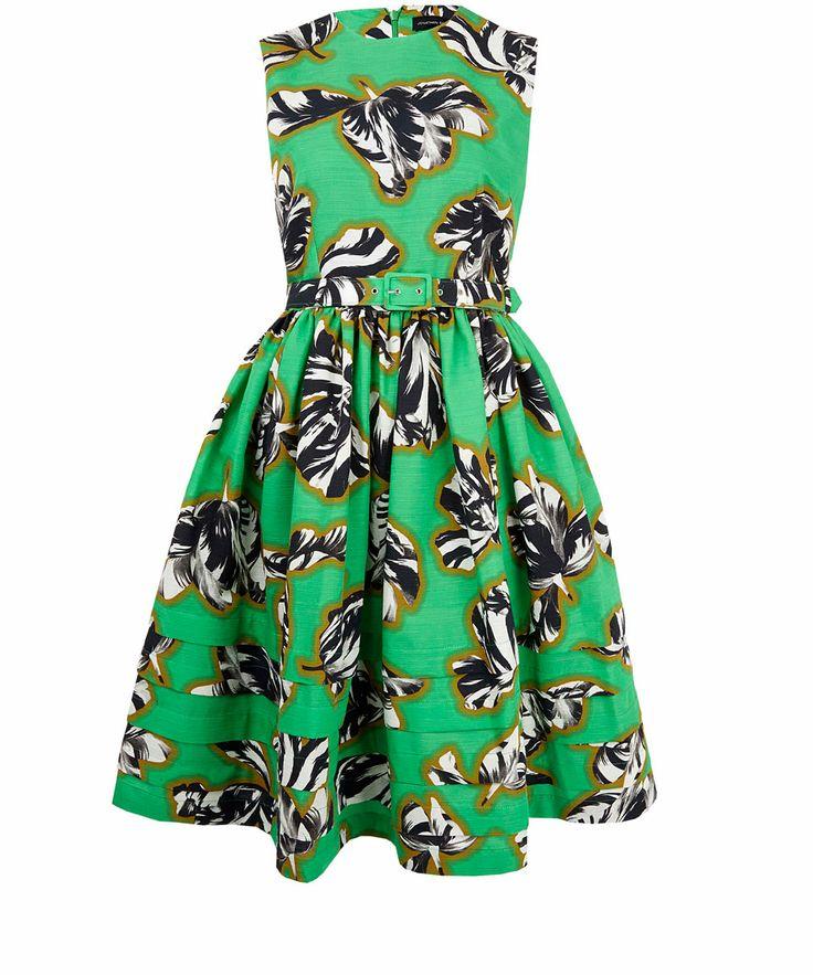 Jonathan Saunders Green Laurel Tulips Print Dress   Designer Dresses by Jonathan Saunders   Liberty.co.uk