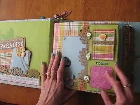 Hawaii Scrapbook Mini Album (based on 8x8 Interactive Scrapbook Album tutorial at www.scrappinrabbit.com)