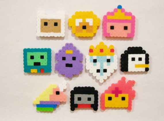10pc ADVENTURE TIME Magnet Set by RainbowMoonShop