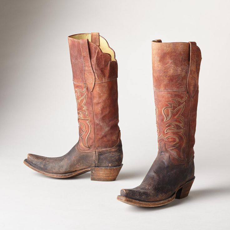 MORGAN STITCHED BOOTS -- Handcrafted in El Paso, and inspired by the desert  sands and sun, these handmade leather Lucchese boots feature subtle  embroidery ...