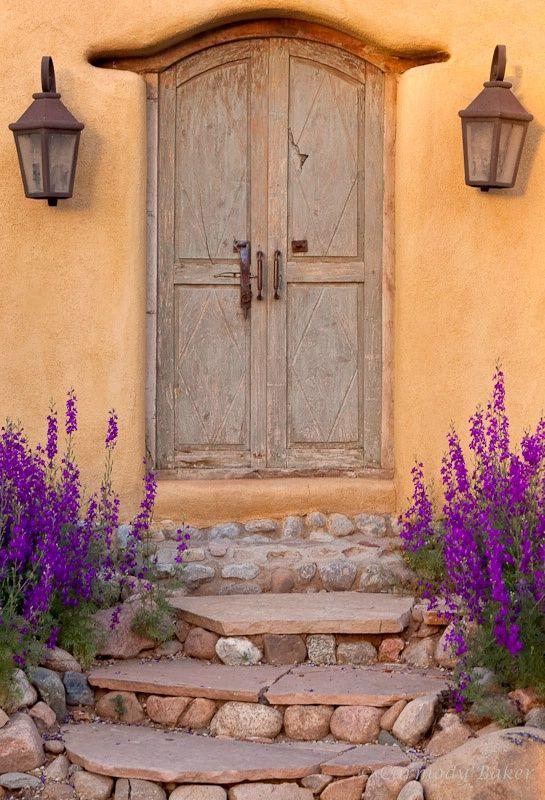 This Door Lives In Santa Fe Nm Doors Gateways Portals