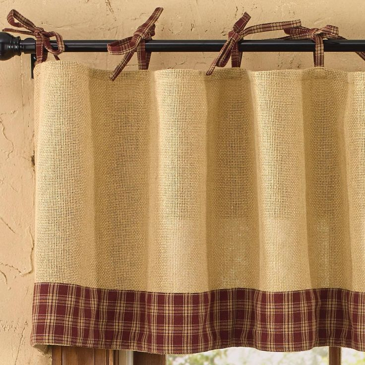 Check Out The Deal On Sturbridge Wine Burlap And Tie Valance At Primitive Home Decors