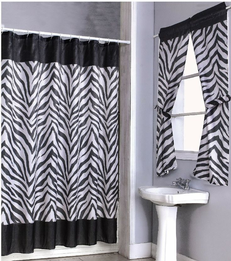 black and white shower curtain set. Zebra Print Shower Curtain Set and Window  Overstock Shopping Great Deals on Curtains 49 best Bathroom curtains images Pinterest