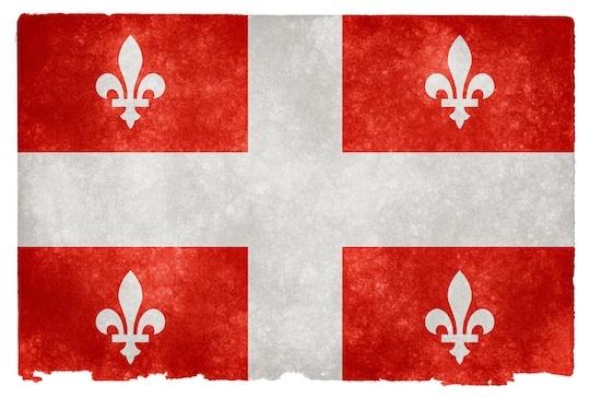 Grunge Quebec Flag red (Drapeau du Québec rouge) by somadjinn @ deviantArt