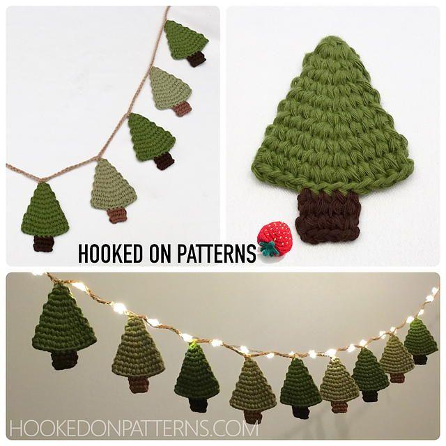 Christmas Tree Garland Christmas Tree Garland Mini Christmas Tree Christmas Crochet