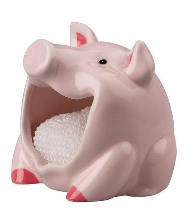 This Pig Scrubby Holder & Scrubby by Boston Warehouse is perfect! #zulilyfinds