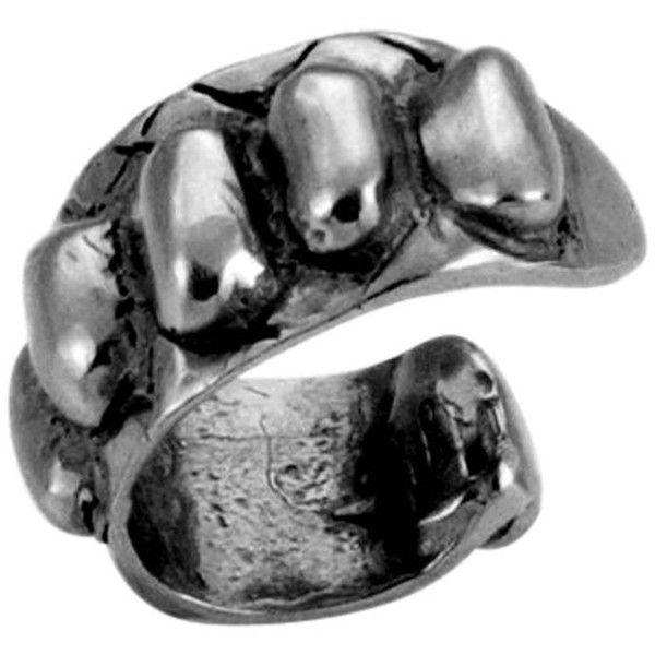 Preowned Giulia Barela Skin Ear Cuff 925 Silver Black Rhodium Earring ($160) ❤ liked on Polyvore featuring jewelry, earrings, black, black rhodium jewelry, preowned jewelry, silver snake jewelry, snake jewelry and earring ear cuff