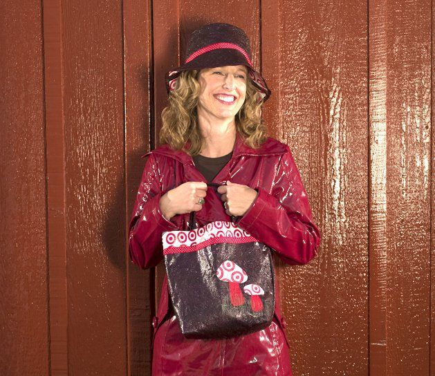 Fused Plastic Shopping Bags: Toadstool Tote & Rain Bucket Hat