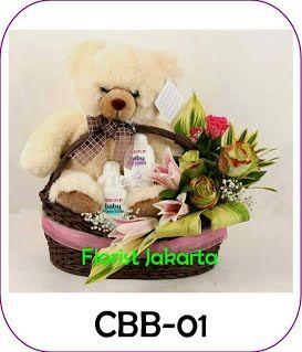 kado bayi, bunga dan perlengkapan mandi