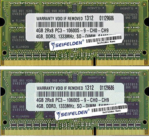 8GB (2X4GB) Memory RAM for HP Envy dv7t-7200 CTO Quad Edition Laptop Memory Upgrade – Limited Lifetime Warranty from Seifelden