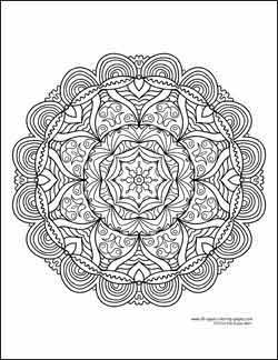 Kaleidoscope Coloring Pages are so much fun! Find beautiful coloring pages at TheColoringBarn.com!