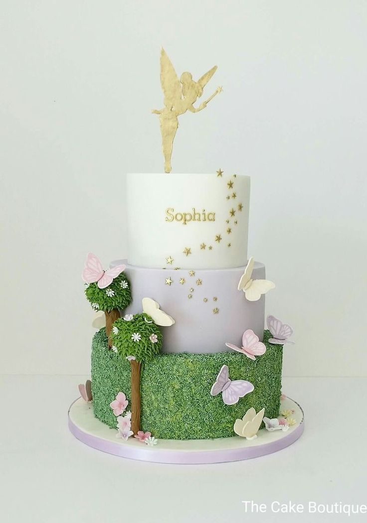 Fairy butterflies enchanted forest woodland cake