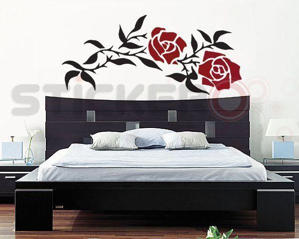 Sticker decorativ Trandafiri impletiti
