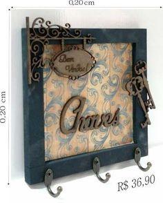 Quadros;porta Chaves;arabescos;trios;decorativo;retrato - R$ 36,90                                                                                                                                                      Mais