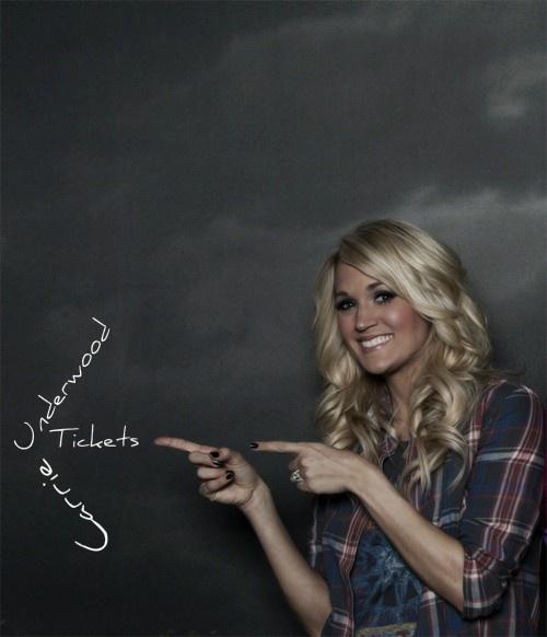 Carrieundood tickeetss!!! would love  to see her concert!