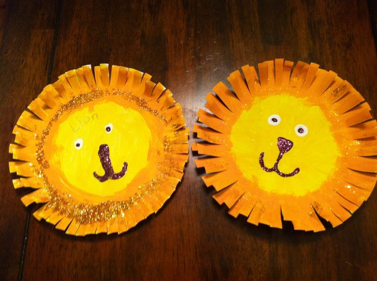 Lions we made out of paper plates :)