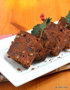 Eggless Christmas Fruit Cake ~ Indian Khana