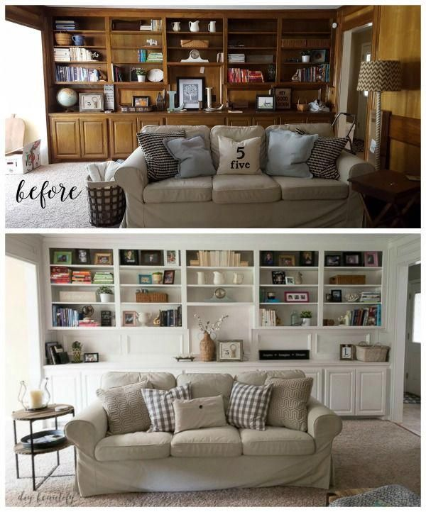 Painting Paneling Can Have A Dramatic Effect On A Room And Introduce Light Into Dark Spaces Living Room Remodel Living Room Makeover Room Renovation