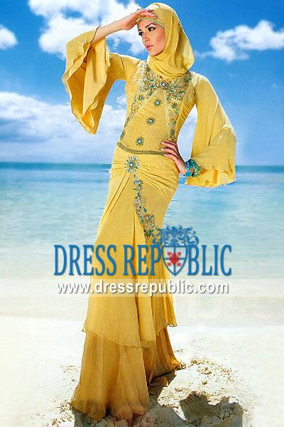 Maize Aneeq, Product code: DR2158, by www.dressrepublic.com - Keywords: Arabic Long Dress, Arab Women Dresses, Arab Clothing, Muslim Clothing Online Shop
