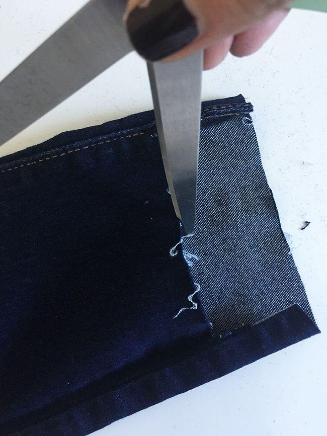 How To DIY Staggered Hem Denim DIY, sewing, skinny jeans, staggered denim, tutorial