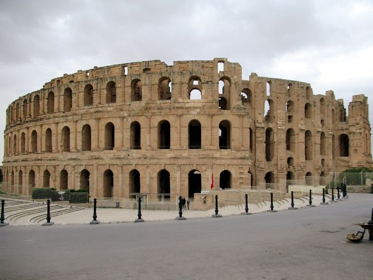 The Amphithéâtre El Djem (AD 238) at El Djem, Tunisia, is the third largest of its kind in the world.