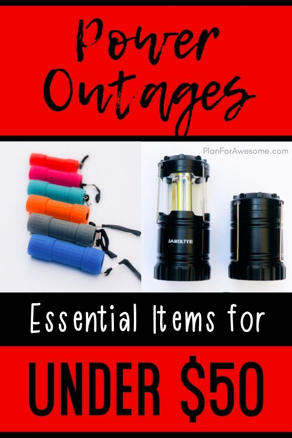 Essential Items To Purchase To Prepare For Power Outages Power