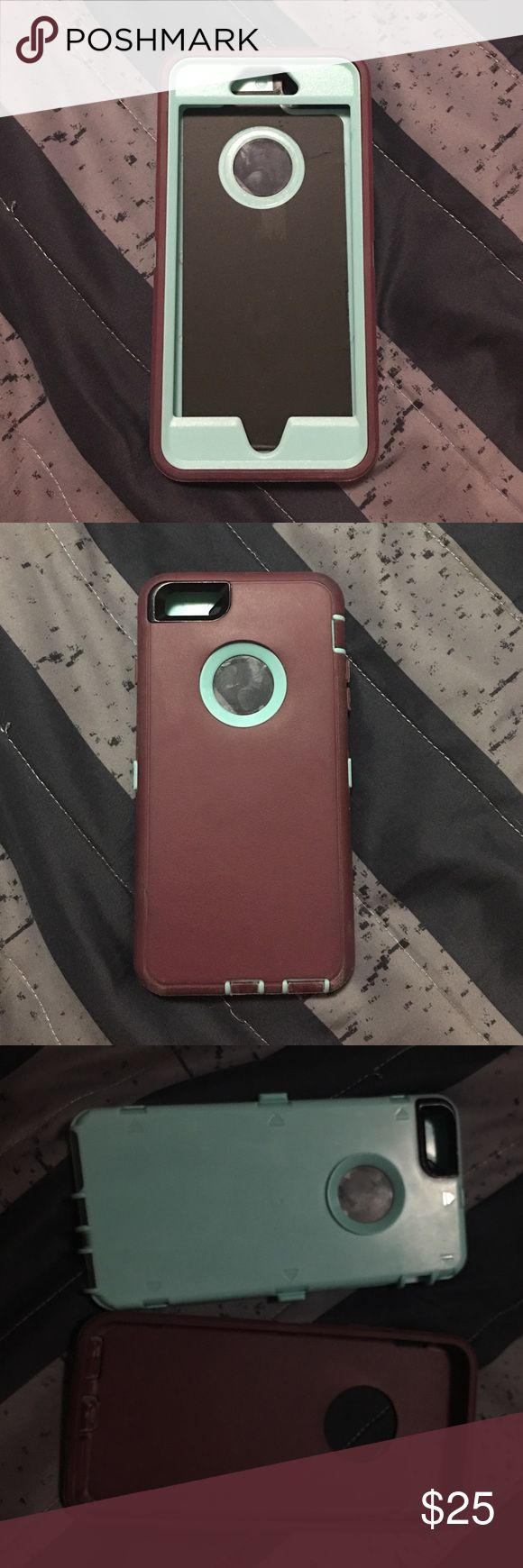 iPhone 6 and 6s Otter Box Teal and purple otter box , will fit an iPhone 6 Plus and iPhone 6s Plus Accessories Phone Cases