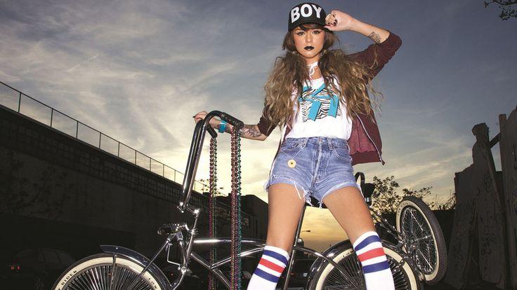 Fashion, Bicycle, Cher Lloyd, Singer, Rapper, Girl, Fashion Clothing, Jean…