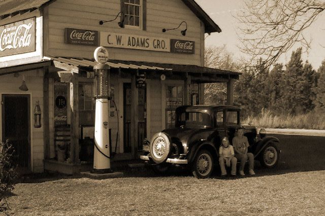 Old gas and grocery store located in the main business district of Stillwater Springs,