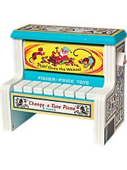 Vintage Inspired Fisher Price  Change-a-Tune Piano  www.treehousekidandcraft.com