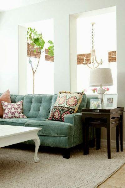 Quaintrelle: A Velvet Sofa Dilemma   How Can Anyone Choose?