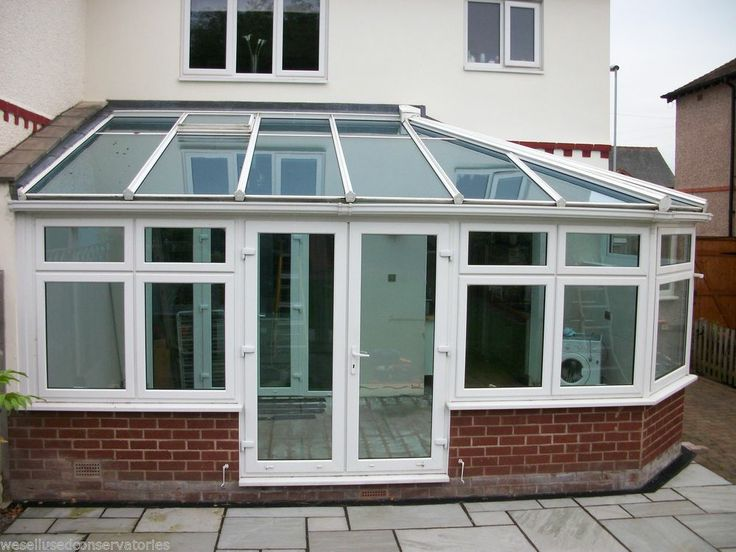 Used Pvcu Large White Upvc Conservatory 5950 mm 2975 mm Self Cleaning Glass Roof
