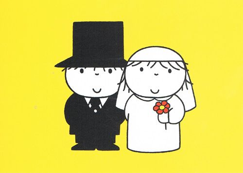 titel: Gelukkig getrouwd, Design: Dick Bruna