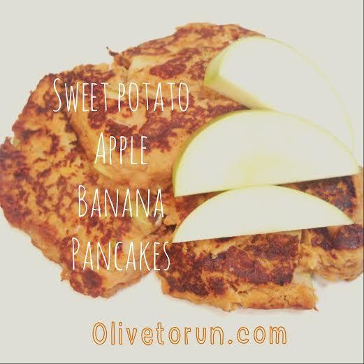 recipes for runners: sweet potato, banana, apple pancakes