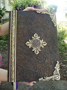 Extra Large Handmade Book of shadows blank spell book / journal / Pegan journal