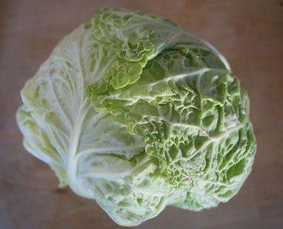 Savoy cabbage is a bit more tender than other cabbages and works nicely as a fresh and crunchy wrap - try using it in place of rice paper or tortillas with your favorite fillings.