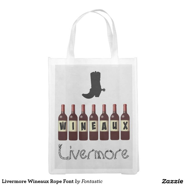 Livermore Wineaux Rope Font Reusable Market Tote (Printed Both Sides)